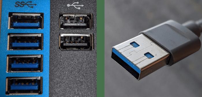 △ 左侧是 USB Type-A 母口,右侧是 USB Type-A 公口