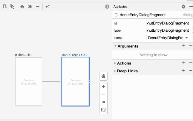 点击目标界面会显示该界面的属性列表,您可以在这里输入需要传递的数据