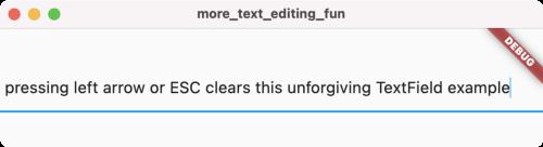 一个糟糕的 TextField 示例,按下左箭头键或 ESC 键会清除文本
