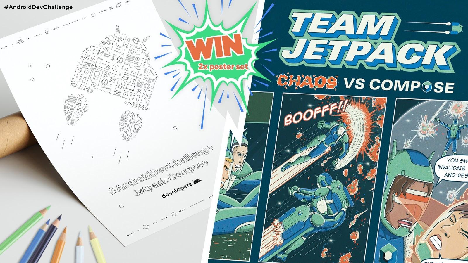 △ 第二周奖品: Jetpack Compose 海报集